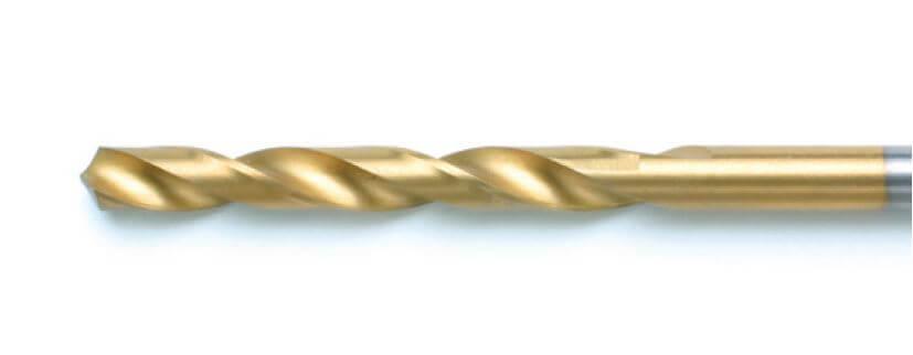 HSS G Tin Spiralbohrer sind geschliffene Spiralbohrer mit TiN (Titannitrid) Beschichtung / gold farbend