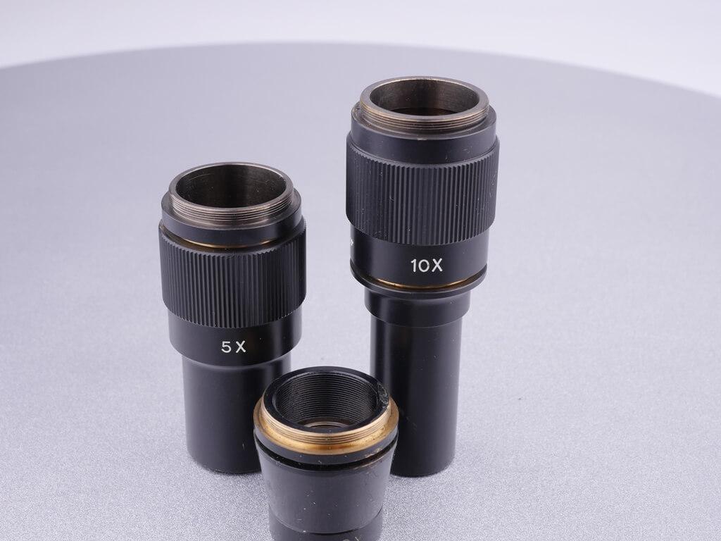 Mikroskop-Objektiv-Gewinde und RMS-Gewinde: 2x, 5x und 10x Vergrößerungsobjektive