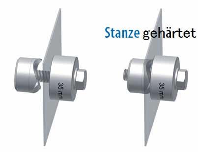 Schraublochstanzer, Schraublocher oder Lochstanzer mit gehärteten Stanzen