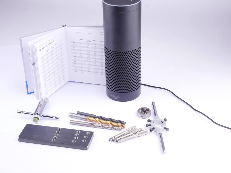 Amazons Alexa und Gewindeschneidwerkzeuge
