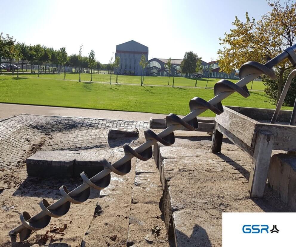 Archimedische Schraube in Xanten: Wasserspirale, Wasserschnecke, Schneckenpumpe
