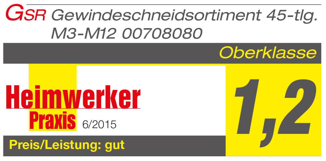 GSR Gustav Stursberg PROFI Gewindeschneidsatz 45 tlg. HSSG, M3 - M12, Heimwerkerpaxis Testsieger mit der Note 1,2