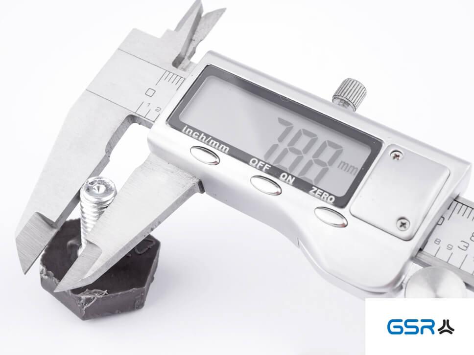 Berechnung des Gewindeaußendurchmessers mit einer digitalen Schieblehre