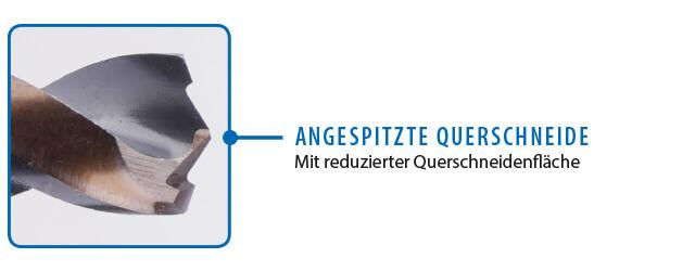 GSR PowerSpike Metallbohrer für Akkuschrauber: Detailbild angespitzte Querschneide