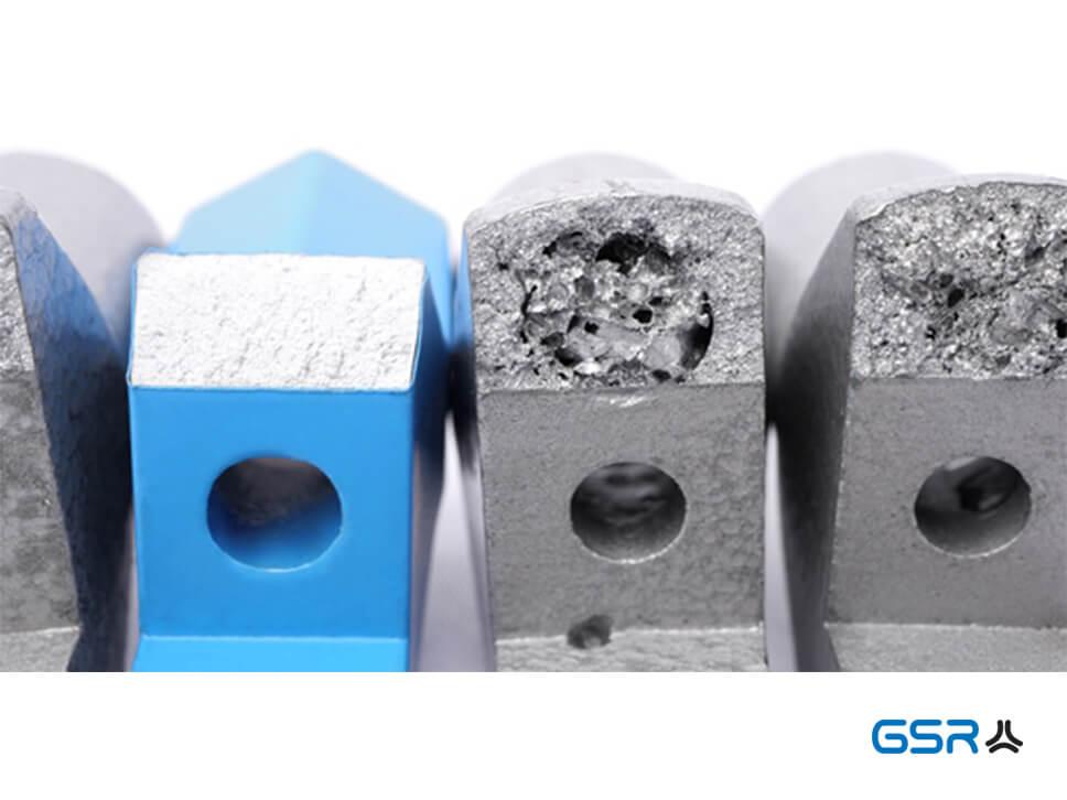Vergleichbild: GSR Haltewerkzeuge Blau und Silber mit Lunkern