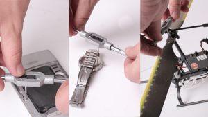 Miniatur-Gewindebohrer und Miniatur Haltewerkzeug für Handy, Smartphone, Fahrrad und Uhren