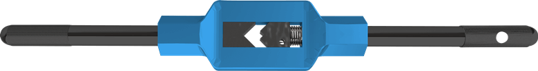 Verstellbare Windeisen Silver mit blauem Zinkdrussguss Körper